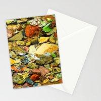 A Colorful Creek, Glacier National Park Stationery Cards