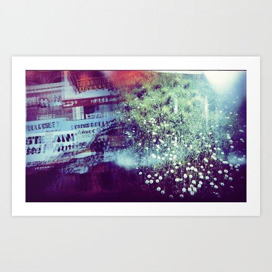 Holga Flowers V Art Print