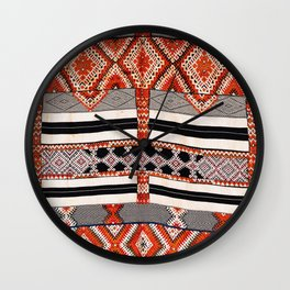Ait Ouaouzguite South Morocco North African Rug Print Wall Clock