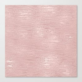 Metallic Rose Gold Blush Canvas Print