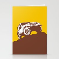 jeep Stationery Cards featuring car jeep by Luciano de Paula Almeida