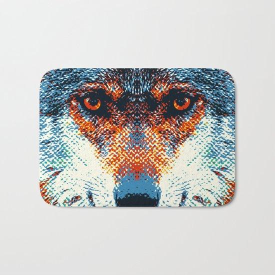 Wolf - Colorful Animals Bath Mat