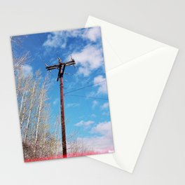 telephone pole (spring 2015) Stationery Cards