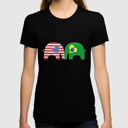 U.S.-Brazil Friendship Elephants T-shirt