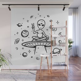 hello earthlings Wall Mural