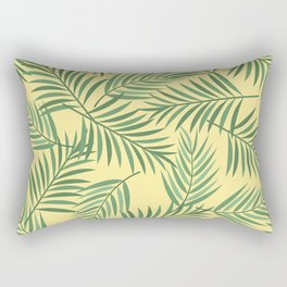 Tropical Palmetto Leaves with Yellow Rectangular Pillow