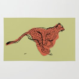 "Cheetah during the chase, from ""Africa"" series Rug"
