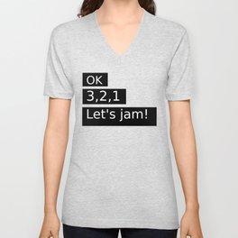 Let's Jam! Unisex V-Neck