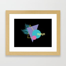 Memphis pattern 48 - 80s / 90s Retro / Palm Tree Framed Art Print