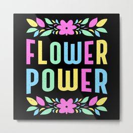 Flowers Florist Plants Gardener Flower Gift Idea Metal Print