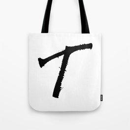 Letter T Ink Monogram Tote Bag