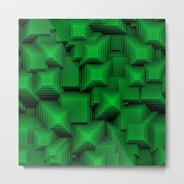 Green Pyramids Metal Print