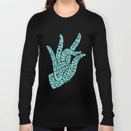 Heart Hand Soft Seafoam Teal Long Sleeve T-shirt