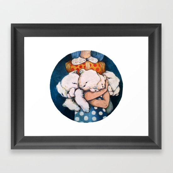 Goodnight story Framed Art Print