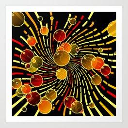 Bubbles and vortex Art Print