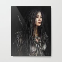 Armored Heart Metal Print