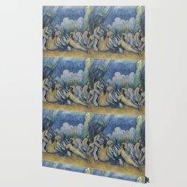 Cezanne Bathers Art Painting Wallpaper