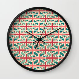 British/UK Flag Pattern Wall Clock