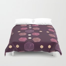 Red and Purple DnD Dice Duvet Cover