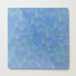 Soft Blue Cubism Abstract Metal Print