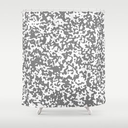 Small Spots - White and Gray Shower Curtain
