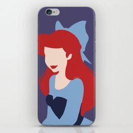 Minimalist princess series: Ariel iPhone Skin