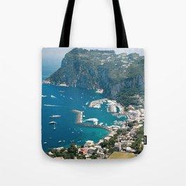 Italy, Capri Landscape View Tote Bag