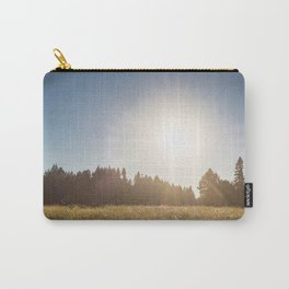 Sunny Oregon meadow full of wildflowers Carry-All Pouch