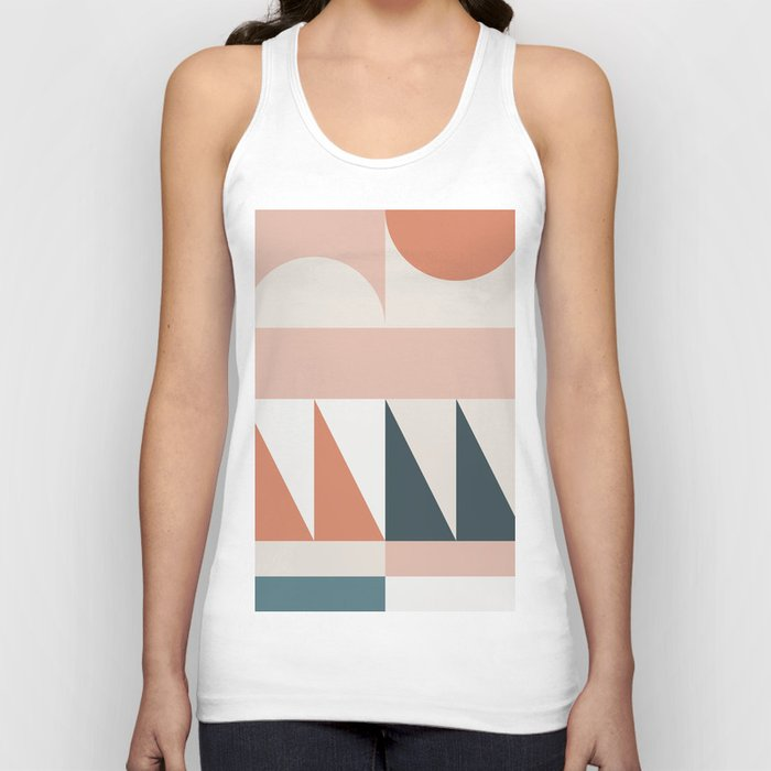 Cirque 04 Abstract Geometric Unisex Tanktop
