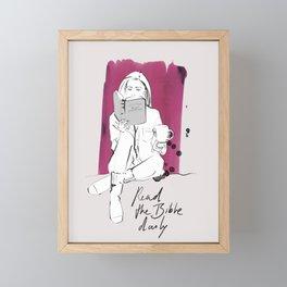 READ THE BIBLE DAILY Framed Mini Art Print
