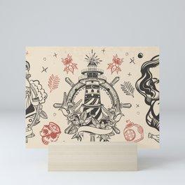 Nautical Tattoo Mini Art Print