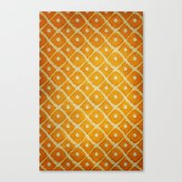 yellow pattern Canvas Prints featuring Yellow Pattern by Thomas Bryant