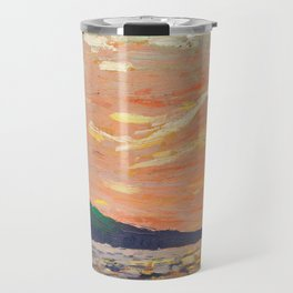 Tom Thomson - Smoke Lake - Canada, Canadian Oil Painting - Group of Seven Travel Mug
