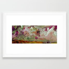 Abstract Purple Green Sky Framed Art Print