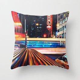 Night neon Throw Pillow