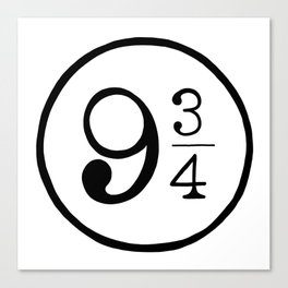 Platform 9 3/4 Nine And Three Quarters Canvas Print