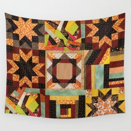 Quilt, Fall Colored Quilt Pattern Wall Tapestry