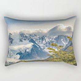 Snowy Andes Mountains, El Chalten Argentina Rectangular Pillow