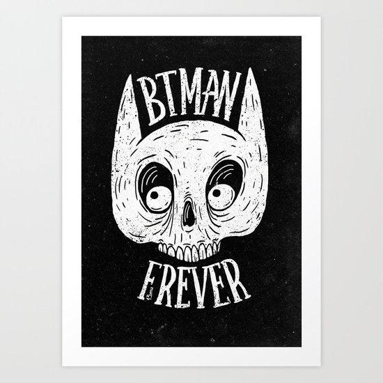 Bat skull Art Print