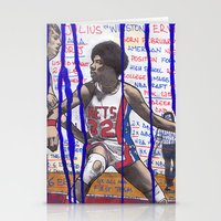 nba Stationery Cards featuring NBA PLAYERS - Julius Erving by Ibbanez