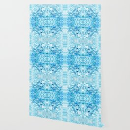 Crystal Stone - In Teal Aqua & Blue Wallpaper