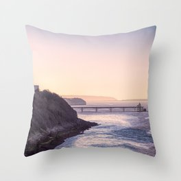 Clevedon Sea front Throw Pillow