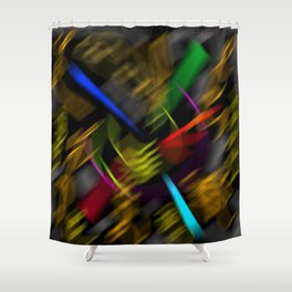 Flying universe Shower Curtain