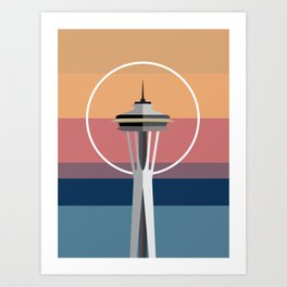 The Seattle Space Needle Art Print