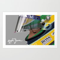 senna Art Prints featuring Senna Meditation by Borja Sanz
