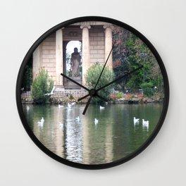 Reflection at Villa Borghese. Wall Clock