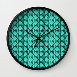 Green Geo Wall Clock