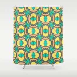 Multicolored decorative seamless pattern with mosaic ornaments Shower Curtain