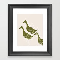 Duck Poster Framed Art Print