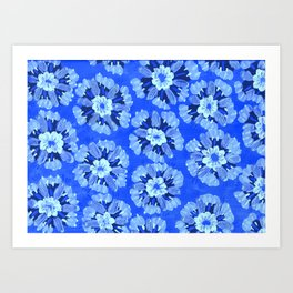 Blue Dakota Rose Art Print